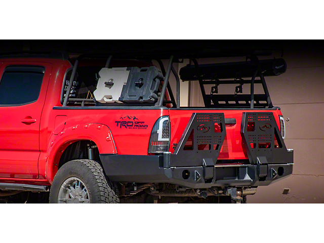 Expedition One High Clearance Dual Swing Arm Rear Bumper; Textured Black (05-15 Tacoma)