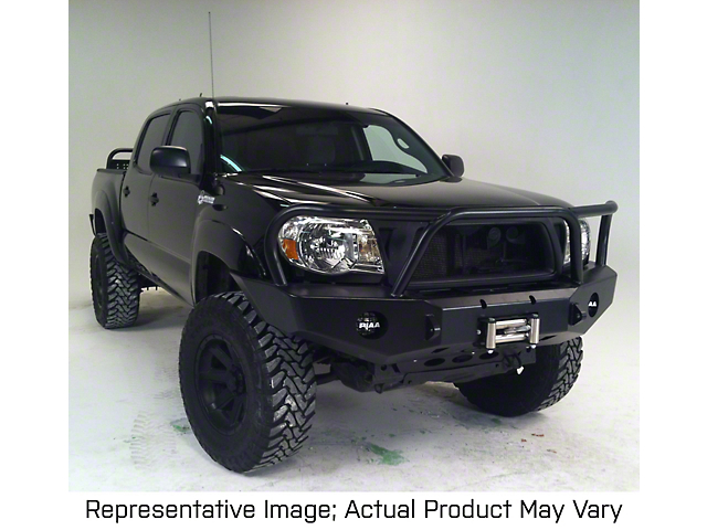 Expedition One Winch Front Bumper with Hoop; Bare Metal (12-15 Tacoma)