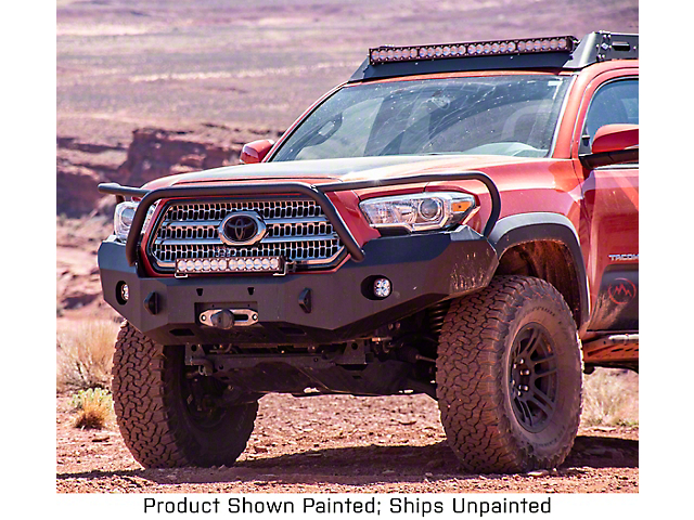 Expedition One Range Max Front Bumper w/ Hoop - Bare Metal (16-20 Tacoma)