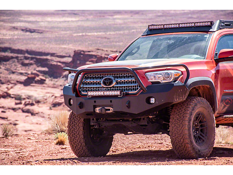 Expedition One Range Max Front Bumper w/ Bull Bar - Textured Black (16-20 Tacoma)