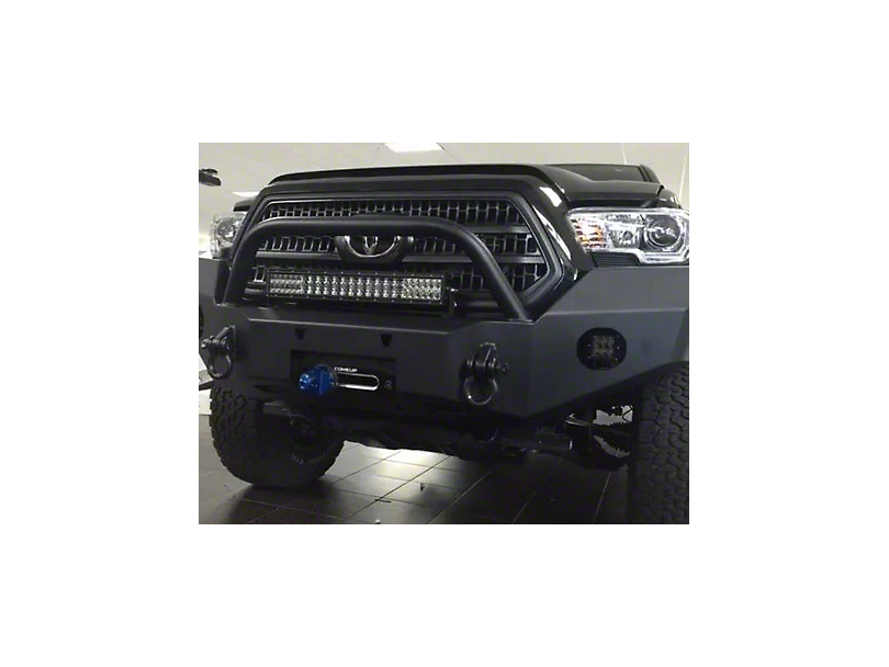 Expedition One Range Max Front Bumper w/ Hoop - Textured Black (16-20 Tacoma)