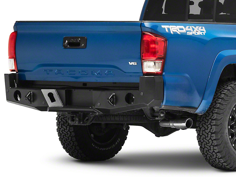 Expedition One Range Max Rear Bumper; Textured Black (16-20 Tacoma)