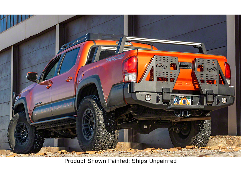 Expedition One Trail Series Dual Swing Arm Rear Bumper - Bare Metal (16-20 Tacoma)