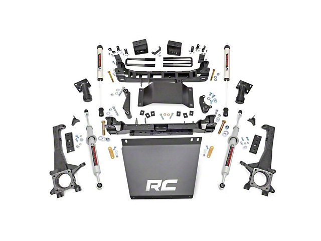 Rough Country 6-Inch Suspension Lift Kit with Lifted N3 Struts and V2 Monotube Shocks (16-21 Tacoma)
