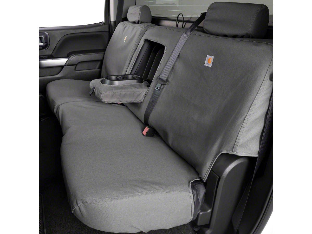 Duck Weave Covercraft Carhartt SeatSaver Second Row Custom Fit Seat Cover for Select Ram Models Gravel