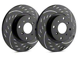 SP Performance Diamond Slot 6-Lug Rotors with Black Zinc Plating; Front Pair (10-20 F-150)