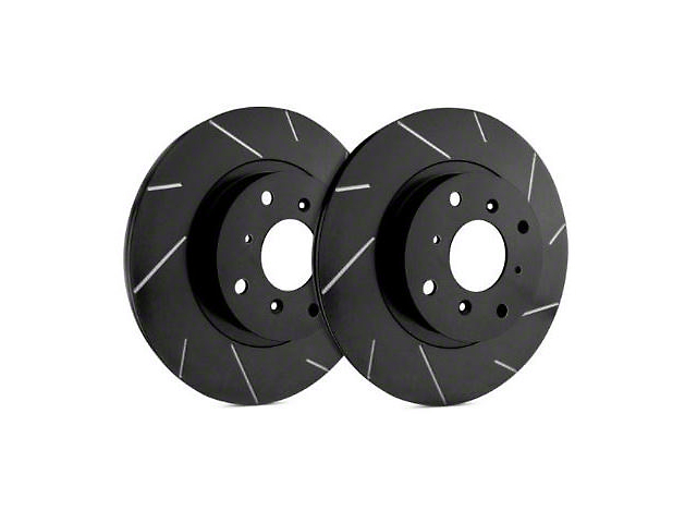 SP Performance Slotted Rotors with Black Zinc Coating; Front Pair (09-20 GT, R/T, T/A; 11-20 SE, SXT w/ Dual Piston Front Calipers)