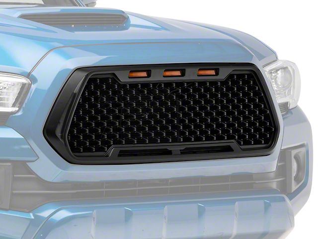 RedRock 4x4 Baja Upper Replacement Grille with LED Lighting and DRL (16-18 Tacoma)