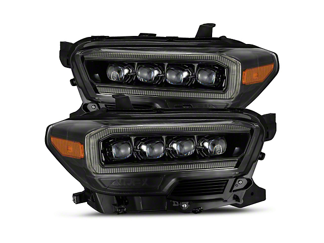 NOVA-Series LED Projector Headlights; Alpha Black Housing; Clear Lens (16-21 Tacoma SR5)