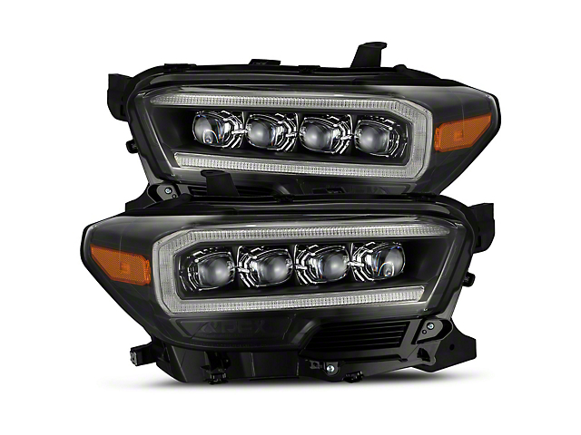 NOVA-Series LED Projector Headlights; Black Housing; Clear Lens (16-21 Tacoma SR5)