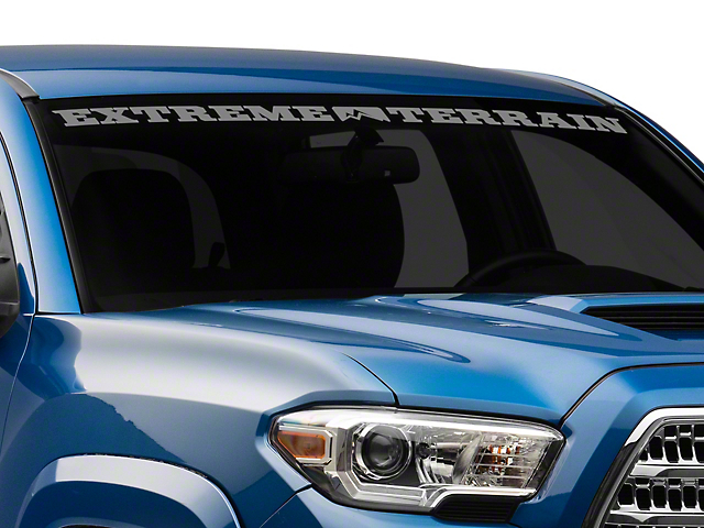 SEC10 ExtremeTerrain Windshield Banner; Frosted (05-21 Tacoma)