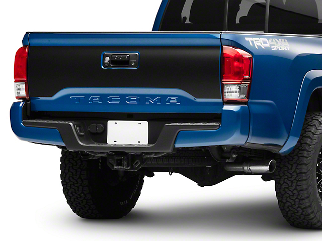 SEC10 Tailgate Decal; Matte Black (16-21 Tacoma)