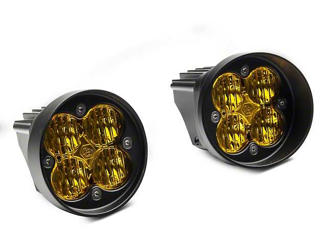Baja Designs Squadron-R Sport Amber LED Fog Light Pocket Kit (12-20 Tacoma)