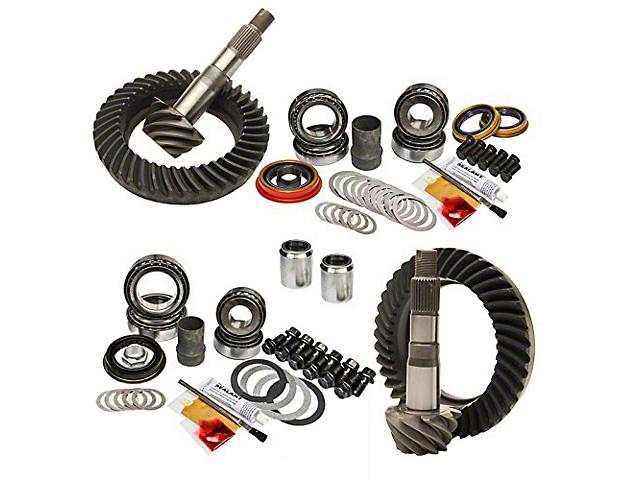 Nitro Gear & Axle 8-Inch Front Axle/8.4-Inch Rear Axle Ring and Pinion Gear Kit; 4.56 Gear Ratio (05-15 4WD Tacoma w/o E-Locker)