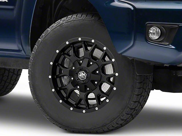 Mayhem Wheels Warrior Matte Black 6-Lug Wheel; 17x9; -12mm Offset (05-15 Tacoma)