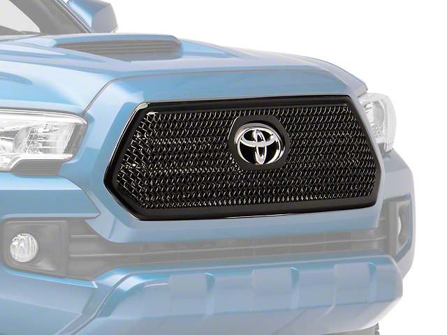 Overlay Grille; Gloss Black (16-19 Tacoma)