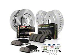 Power Stop OE Replacement 6-Lug Brake Rotor and Pad Kit; Front and Rear (05-21 Tacoma)