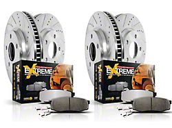 Power Stop Z36 Extreme Truck and Tow 6-Lug Brake Rotor and Pad Kit; Front and Rear (05-21 Tacoma)