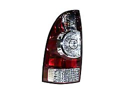 Tail Light; Chrome Housing; Red/Clear Lens; Driver Side; Replacement Part (05-15 Tacoma w/o Factory LED Tail Lights)