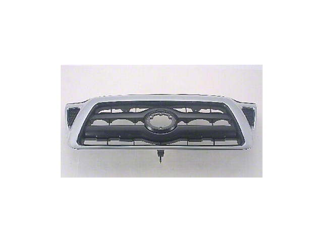 Upper Replacement Grille; Black (05-11 Tacoma)