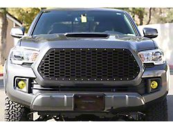 1-Piece Steel Upper Grille Overlay; Honeycomb (16-17 Tacoma)