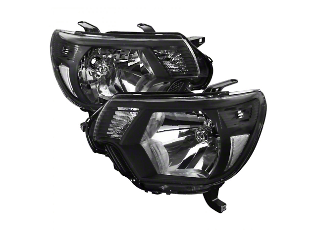 JDM Style Headlights; Black Housing; Clear Lens (12-15 Tacoma)