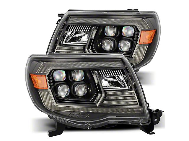 NOVA-Series LED Projector Headlights; Black Housing; Clear Lens (05-11 Tacoma w/ Factory DRL)
