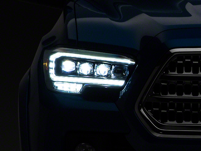 NOVA-Series LED Projector Headlights; Black Housing; Clear Lens (16-21 Tacoma TRD)