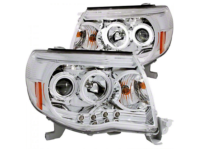 CCFL Halo Projector Headlights; Chrome Housing; Clear Lens (05-11 Tacoma)