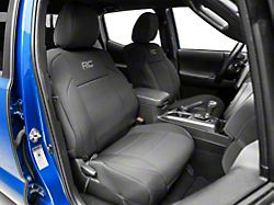 Rough Country Neoprene Front Seat Covers; Black (16-21 Tacoma)