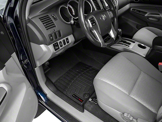 Weathertech DigitalFit Front and Rear Floor Liners; Black (12-15 Tacoma Double Cab)