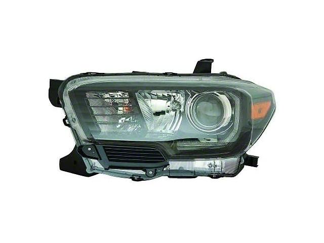 Toyota 2016-2019 TRD Pro Headlight; Black Housing; Clear Lens; Passenger Side (16-21 Tacoma w/ Factory LED Headlights)