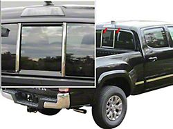 Non-Powered Sliding Rear Window Trim Accent; Stainless Steel (16-21 Tacoma)