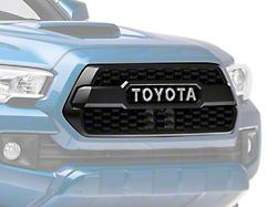 Toyota TRD Pro Upper Replacement Grille; Matte Black (16-18 Tacoma)