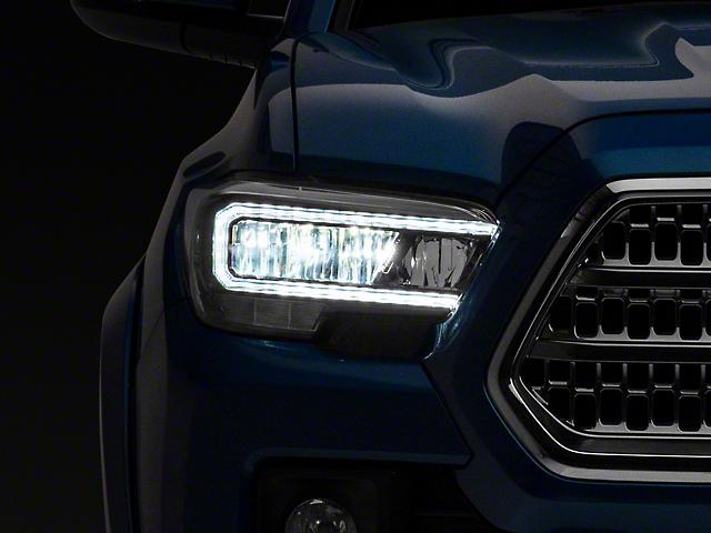 Raxiom LED Headlights; Black Housing; Clear Lens (16-21 Tacoma w/o Factory LED DRL)