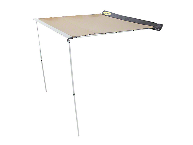 Smittybilt Overlander Tent; Retractable Awning; Tan; 78-Inch Long; 78-Inch Wide