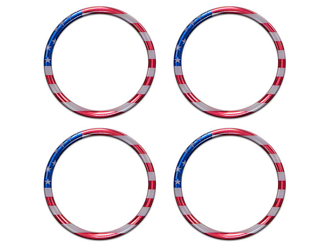 A/C Vent Ring Accents; American Flag Edition (16-21 Tacoma)
