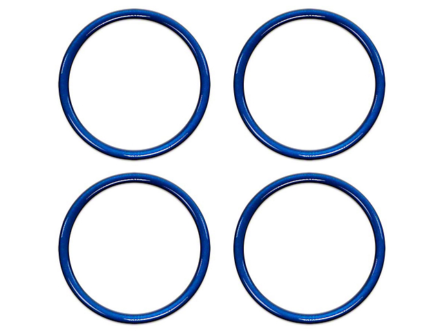 A/C Vent Ring Accents; Blazing Blue (16-21 Tacoma)