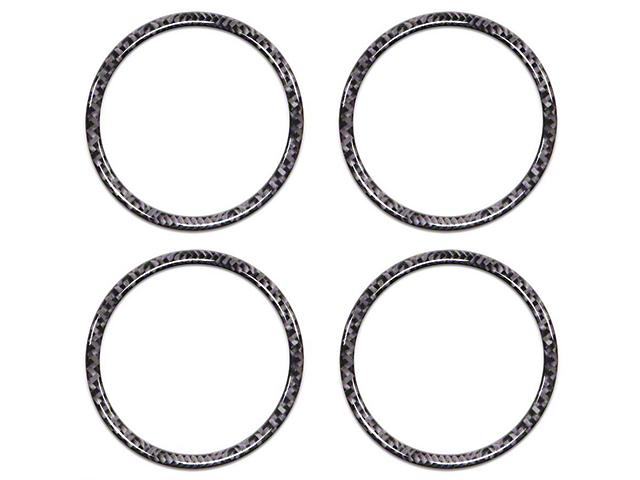 A/C Vent Ring Accents; Domed Carbon Fiber (16-21 Tacoma)