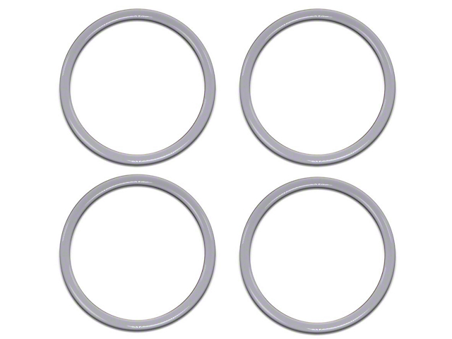 A/C Vent Ring Accents; Gloss White (16-21 Tacoma)
