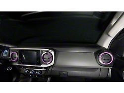 A/C Vent Ring Accents; Lavender Purple (16-21 Tacoma)
