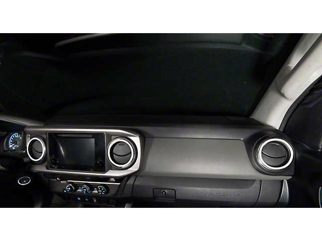 A/C Vent Ring Accents; Matte White (16-21 Tacoma)