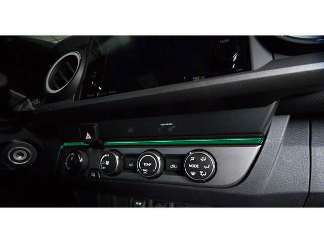 Above Climate Control Accent Trim Strip; Army Green (16-21 Tacoma)