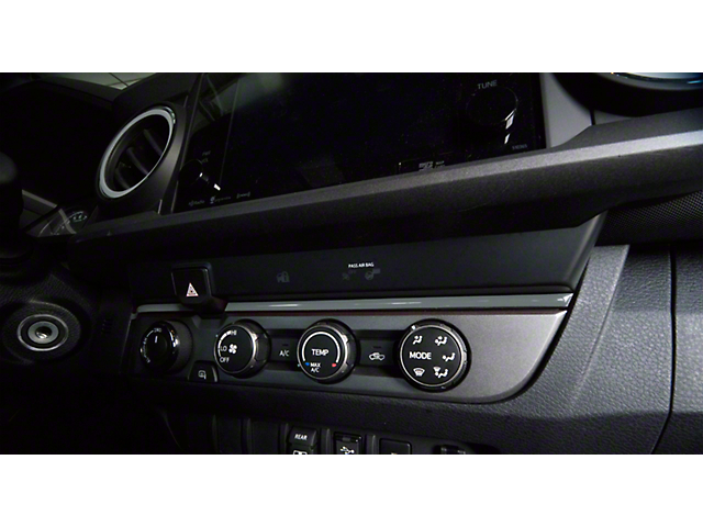 Above Climate Control Accent Trim Strip; Cement Gray (16-21 Tacoma)