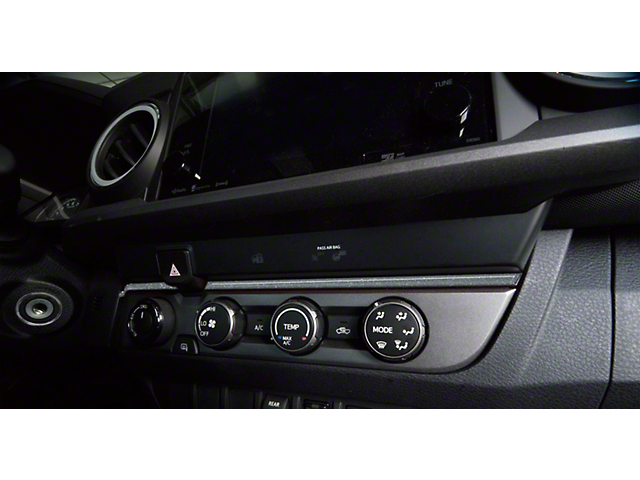 Above Climate Control Accent Trim Strip; Charcoal Silver (16-21 Tacoma)