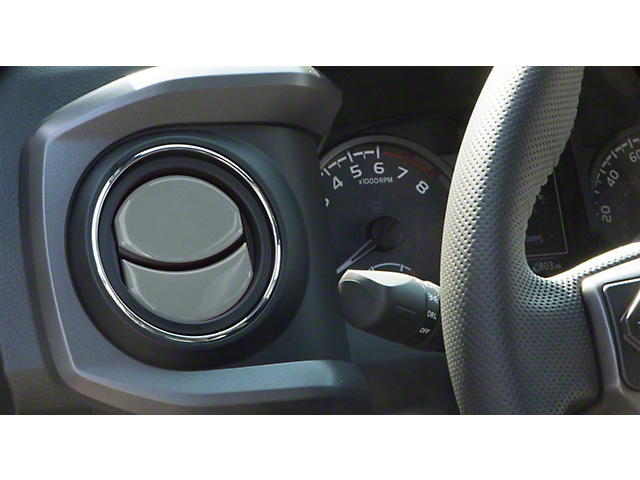 Air Vent Accent Trim; Cement Gray (16-21 Tacoma)