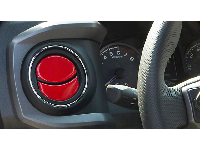 Air Vent Accent Trim; Gloss TRD Red (16-21 Tacoma)