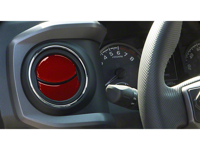 Air Vent Accent Trim; Ruby Red (16-21 Tacoma)