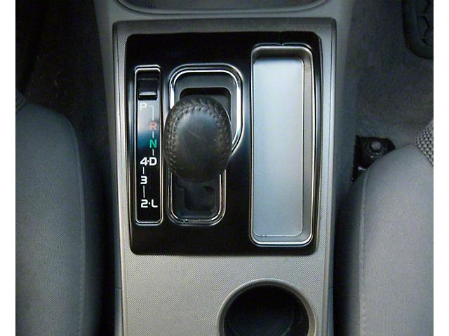 Automatic Transmission Center Console Shifter Accent Trim; Matte Black (05-15 Tacoma)