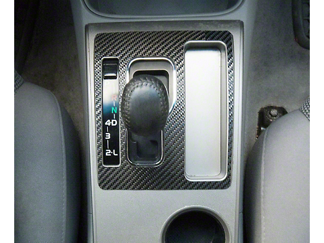 Automatic Transmission Center Console Shifter Accent Trim; Raw Carbon Fiber (05-15 Tacoma)